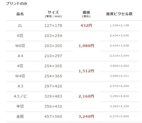 クリスタルプリント価格表_20160508