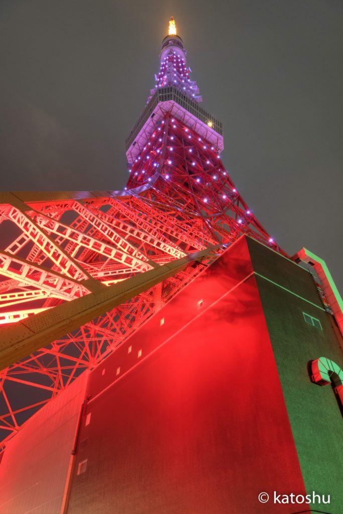 東京タワーあおり撮影HDR