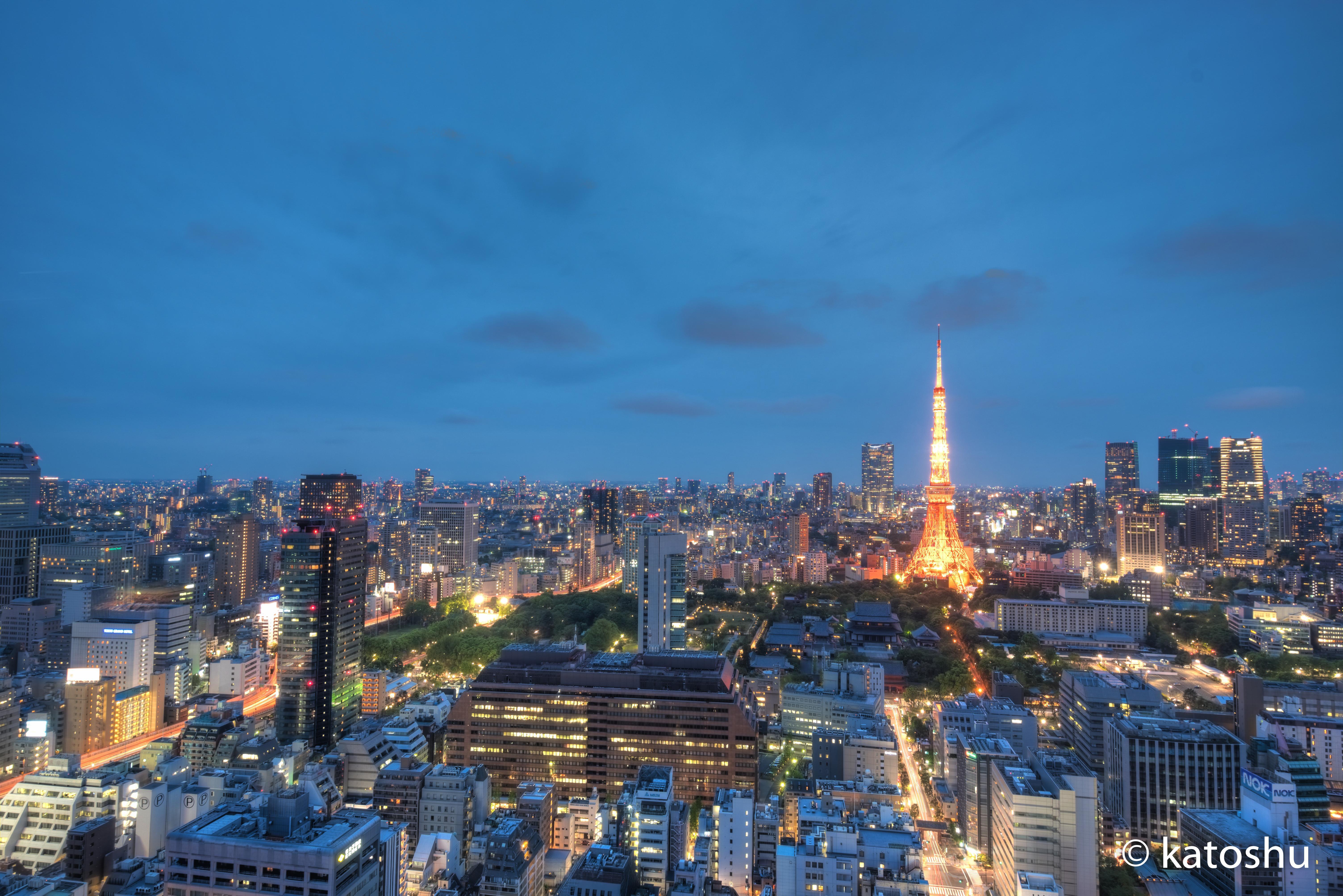 東京タワー夜景HDR
