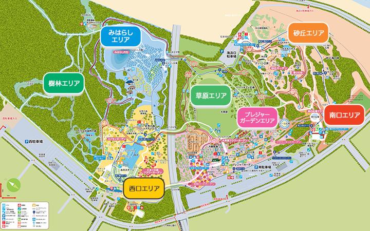 ひたち海浜公園園内マップ