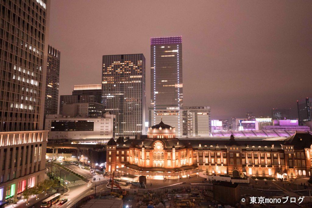 東京駅夜景@新丸ビル