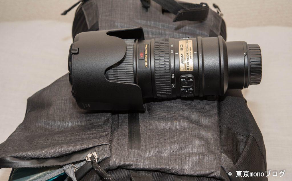 ThuleバッグとNikon70-200mm