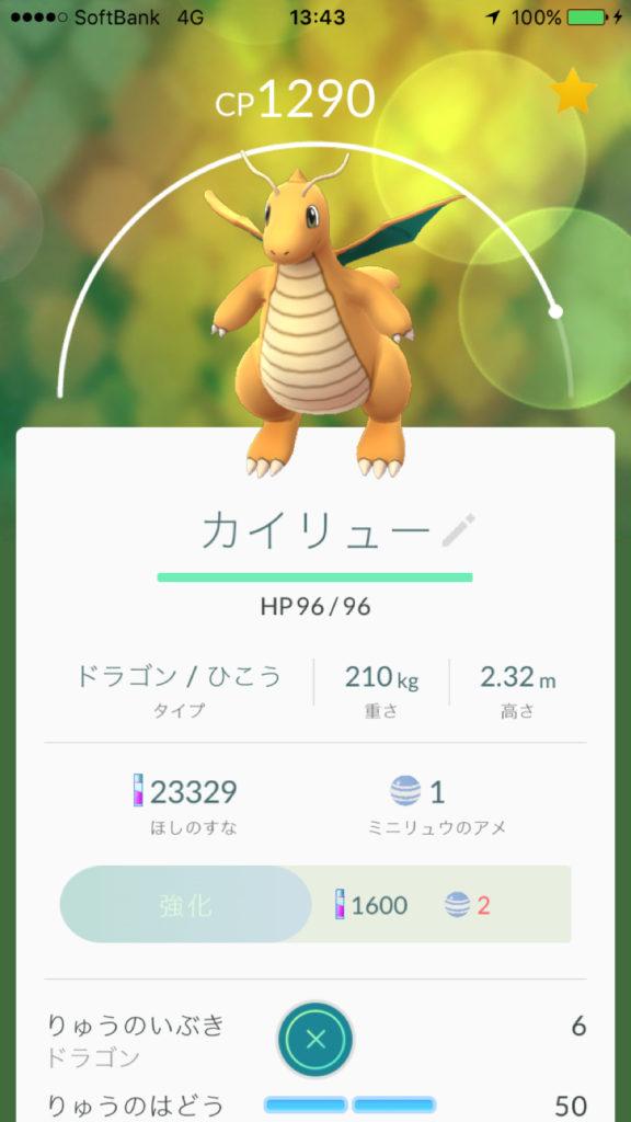 ポケモンGO-世田谷公園-カイリュー