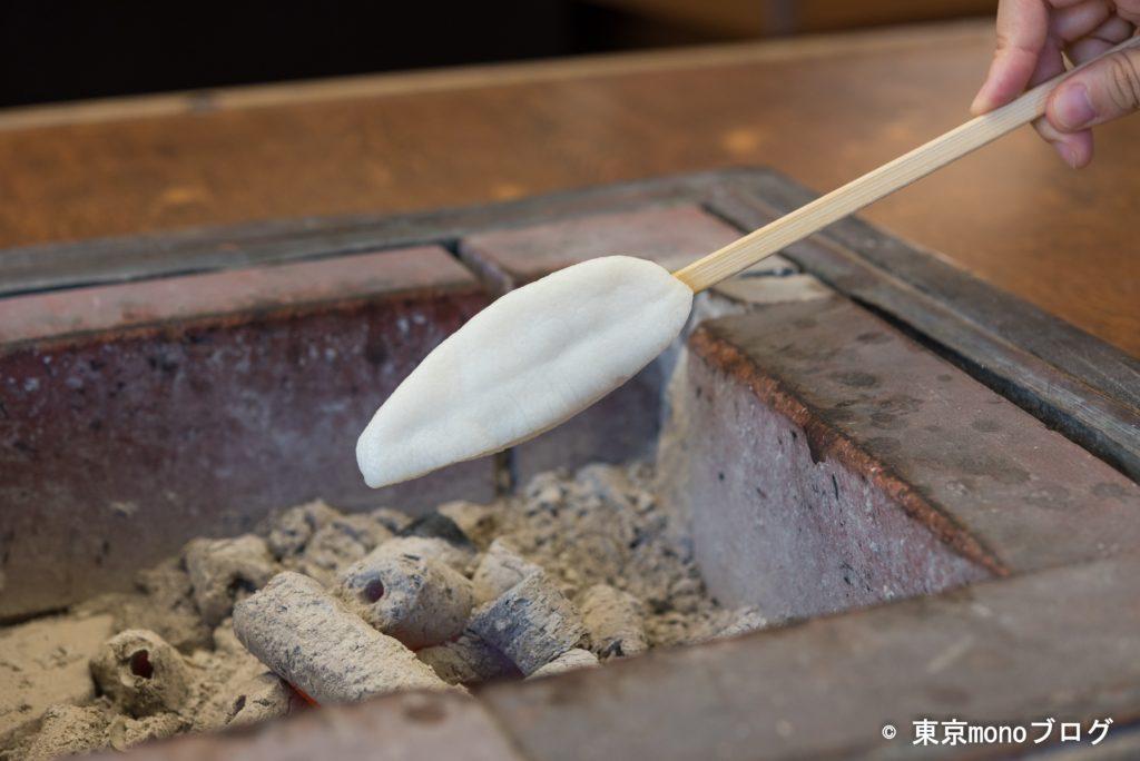 松かまの笹かま手焼き体験
