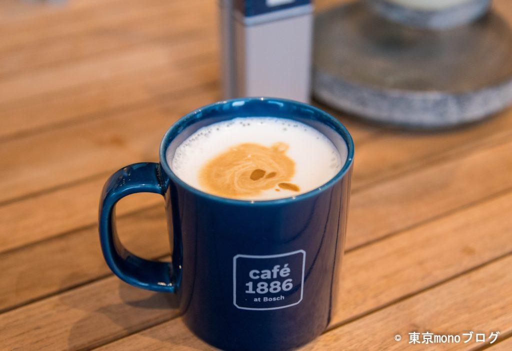 cafe 1886 at Boschのフラットホワイト