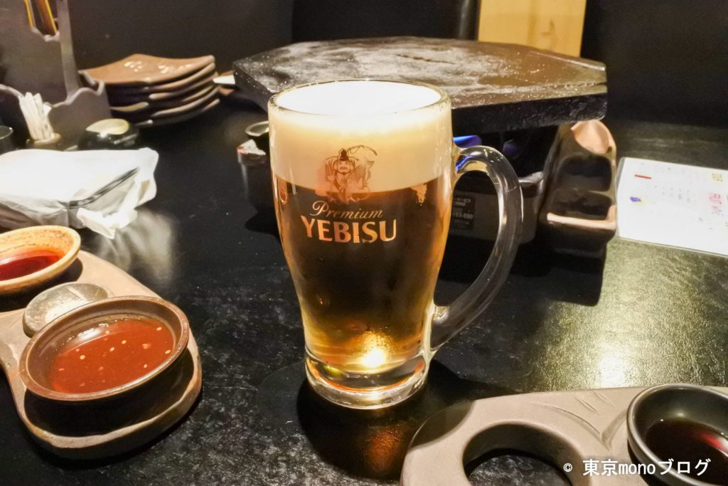 溶岩焼薩摩屋のビール