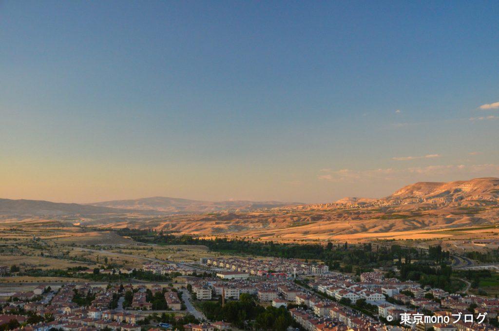 気球から見たトルコの街並み
