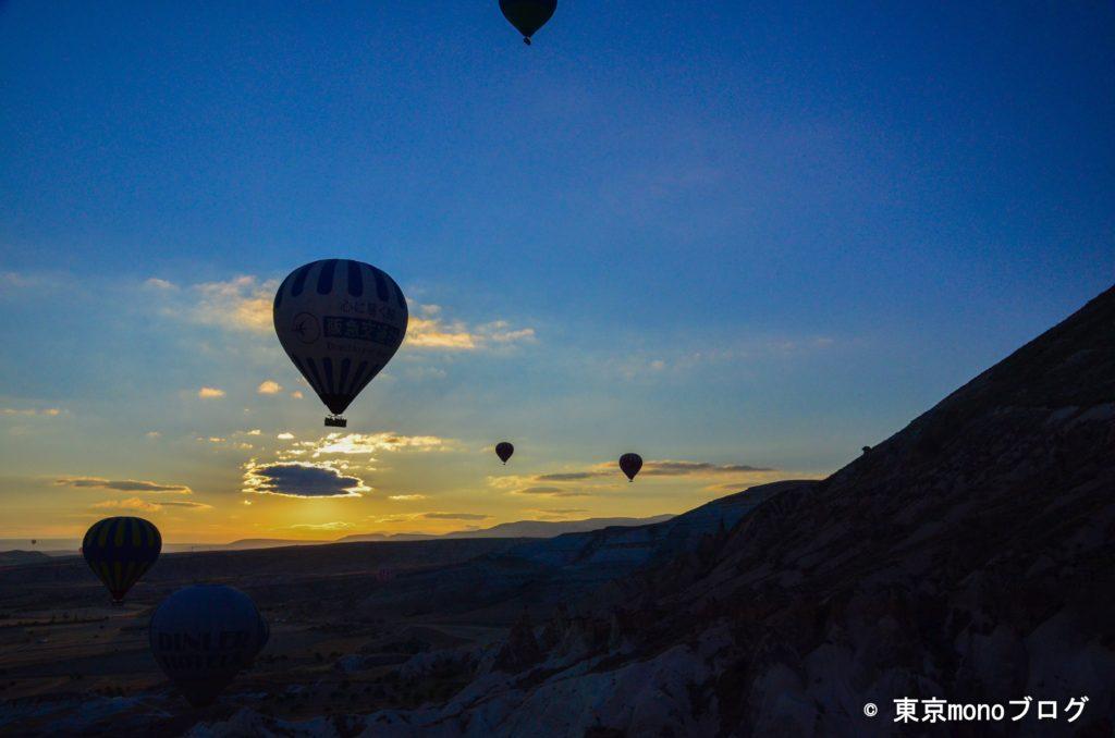 気球からみたカッパドキアの日の出
