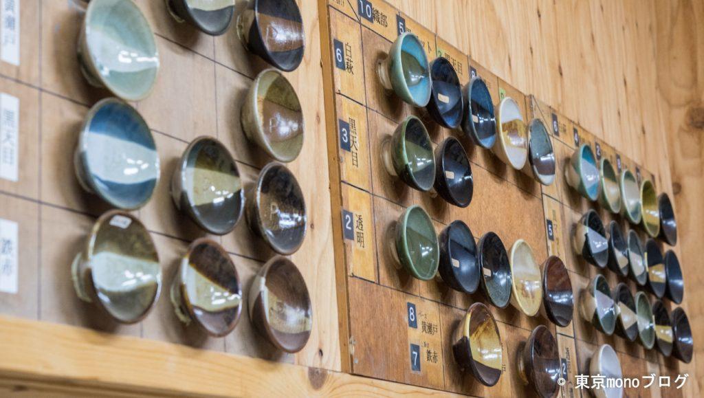 体験陶芸以外では、沢山の釉薬を選べるそうです。