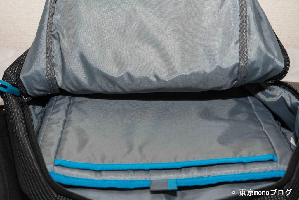THULEノートパソコン用バッグパックの収納力