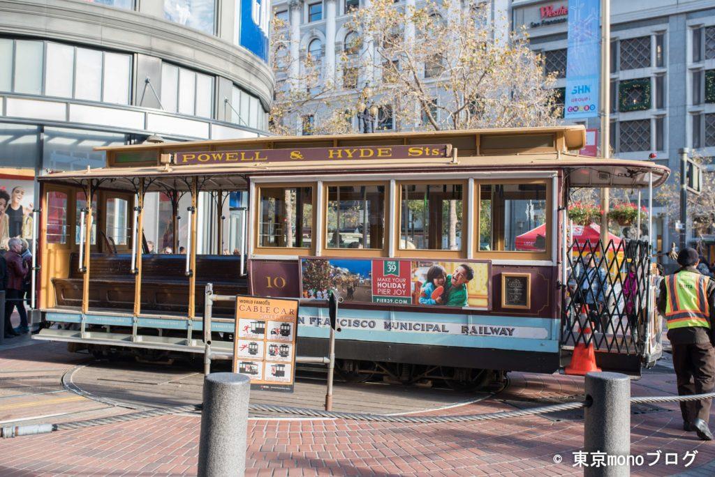 サンフランシスコのケーブルカー乗り場