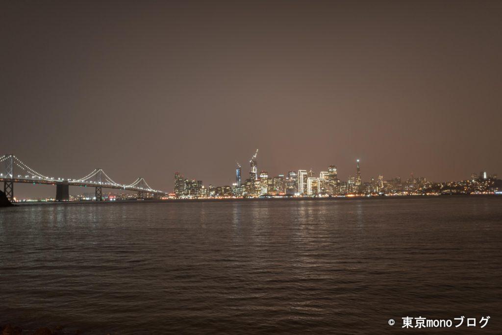 トレジャーアイランドから見たサンフランシスコの夜景