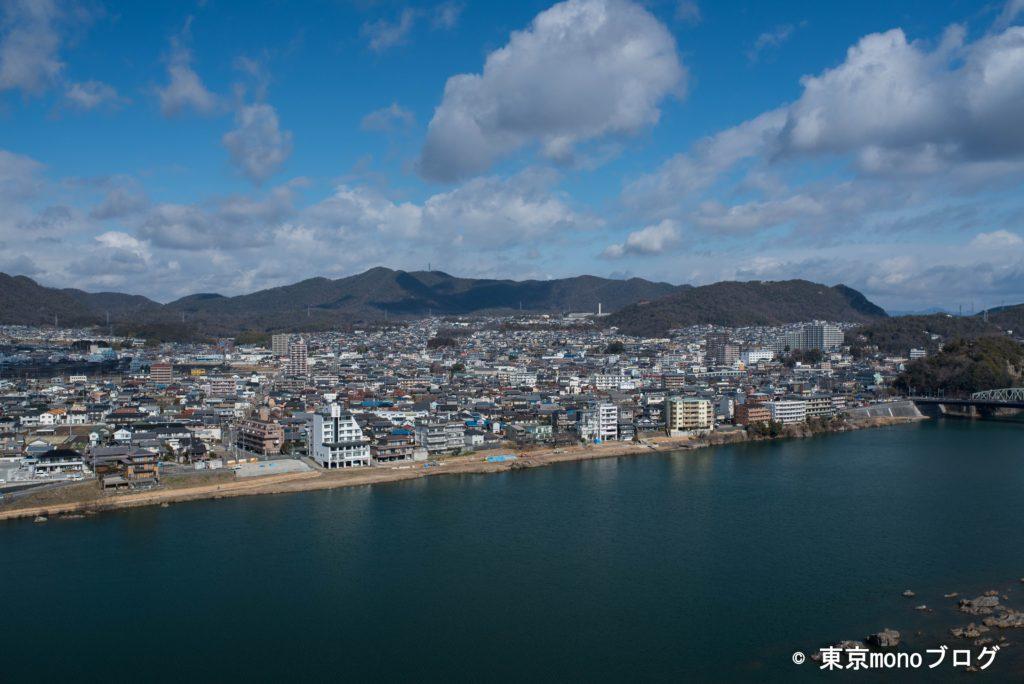 犬山城の最上階からの景色