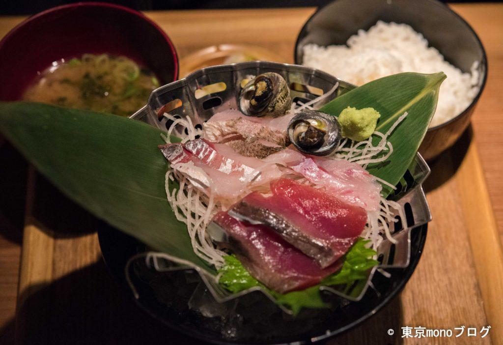 鈴木水産の地魚刺身定食