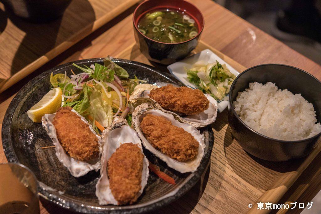 伊勢神宮の外宮近くの鈴木水産のカキフライ定食