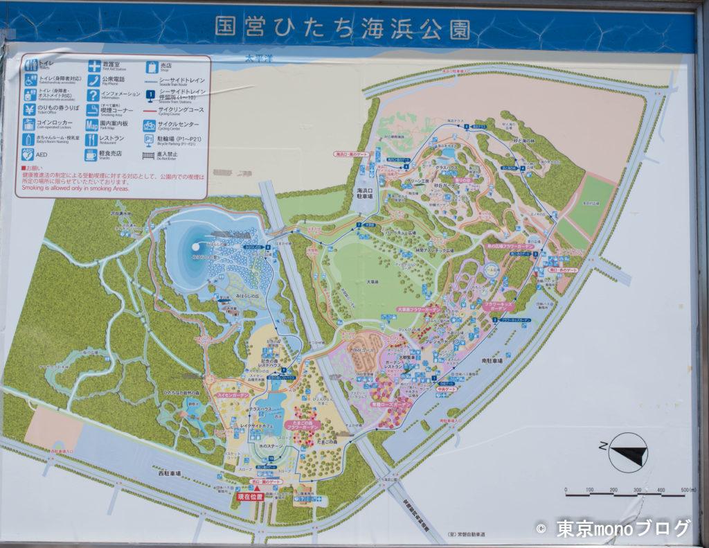 国営ひたち海浜公園のマップ
