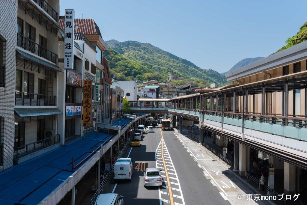 箱根湯本駅の街並み