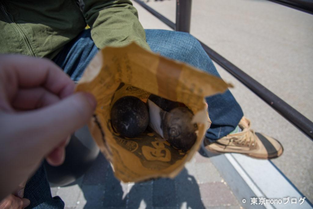 大涌谷の売店で購入した黒たまご