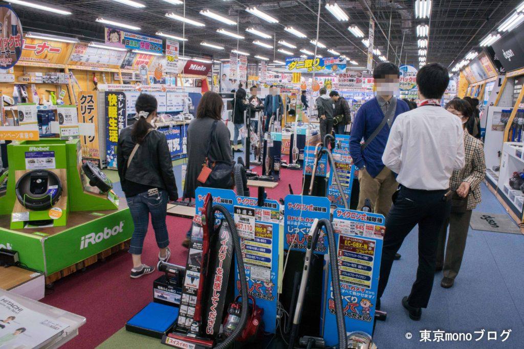 ヨドバシカメラ秋葉原店の掃除機コーナー