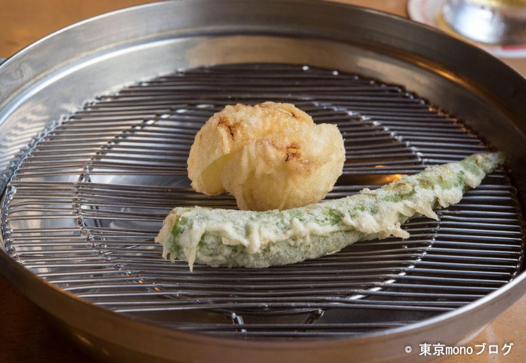 てんぷらと和食山の上 野菜の天ぷら