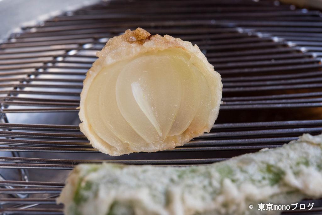 天ぷらと和食山の上 玉葱の天ぷら