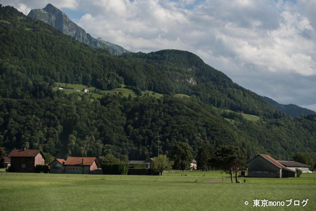 スイスののどかな農村