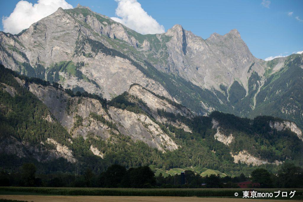 スイスの何気ない山