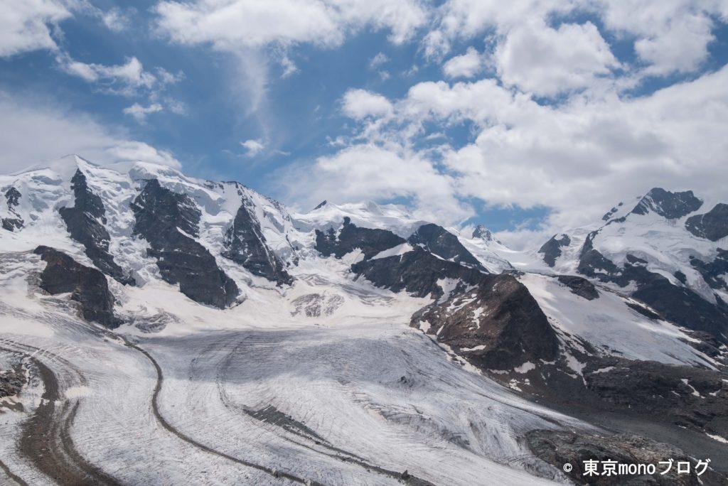 ピッツ・パリュPiz Palü (3905m)とペルス氷河 Persgletscher