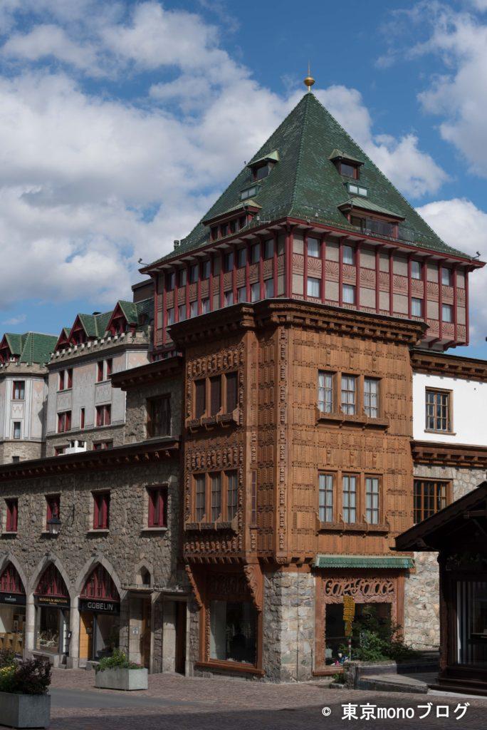 5つ星ホテル「Badrutt's Palace」。オードリー・ヘプバーン主演の映画「シャレード」にも出た名門ホテル