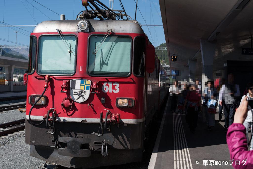 氷河特急の赤い車両