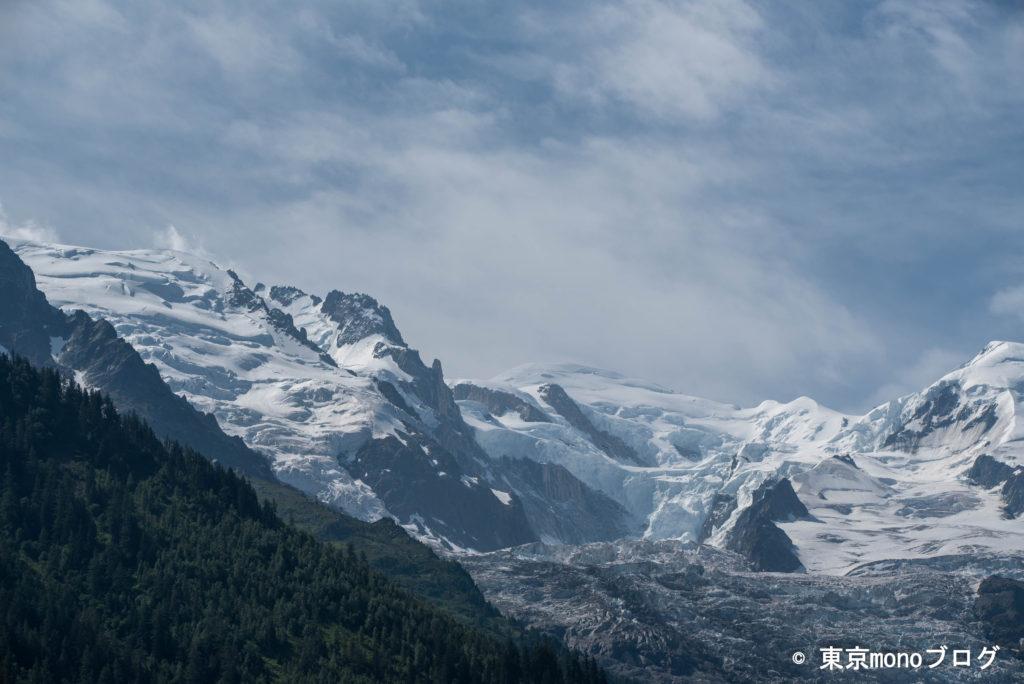 視点をあげるとアルプスの山々が