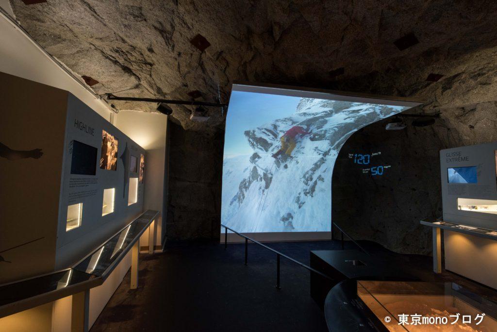 エギーユ・デュ・ミディ展望台の中には展示物もありました
