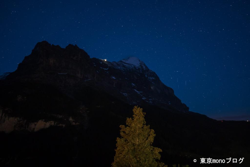 雲が無くなり、星が見えてきました。