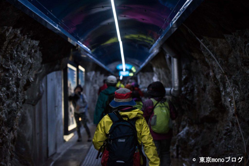 ユングフラウヨッホ駅のトンネル