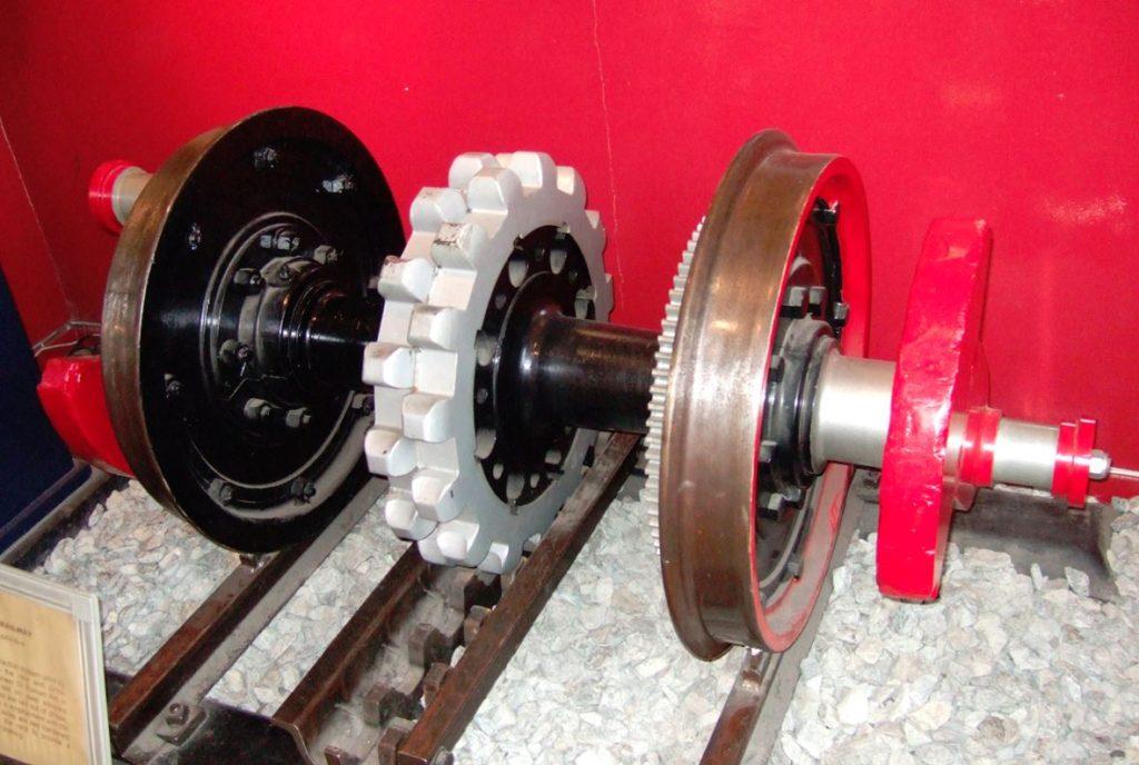 アプト式ラックレールの車輪