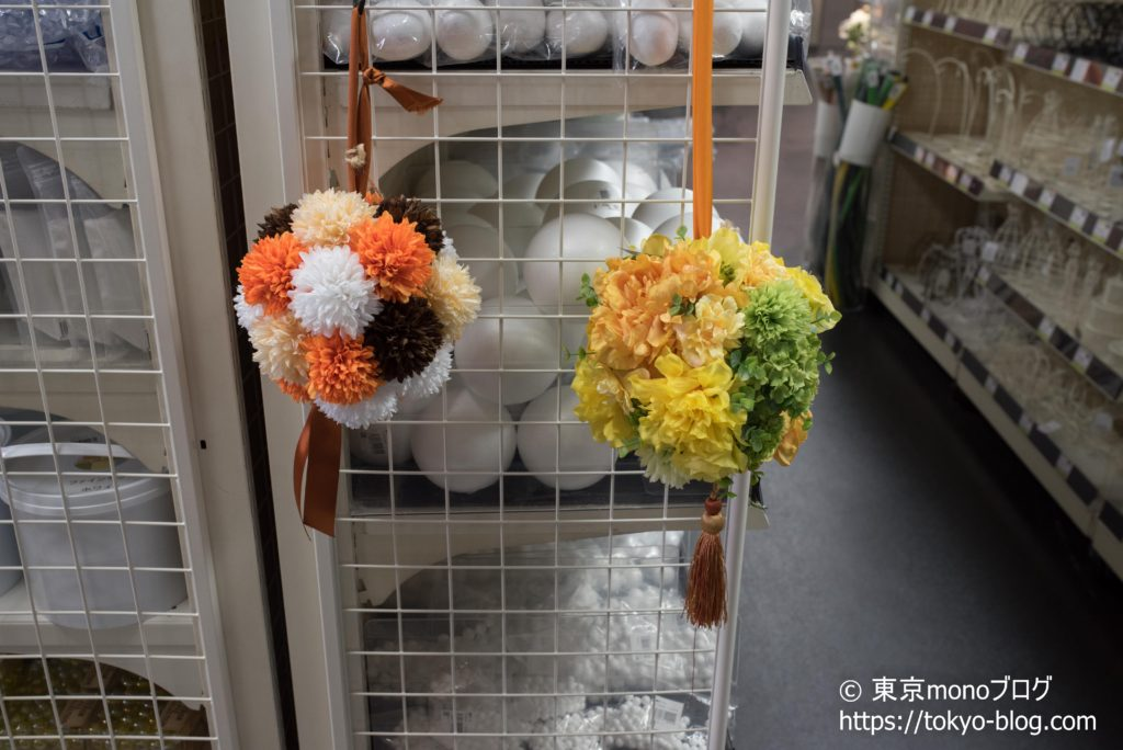 ボールブーケの作成も展示がありました