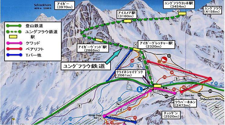スフインクス展望台への路線図