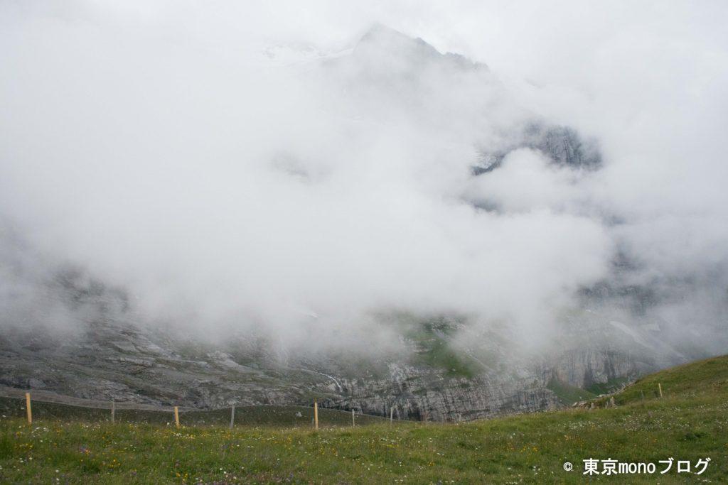 霧が多く、遠くの山はあまり見えませんでした。