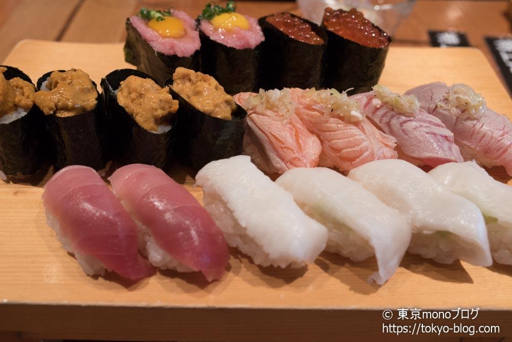 高級寿司1巡目