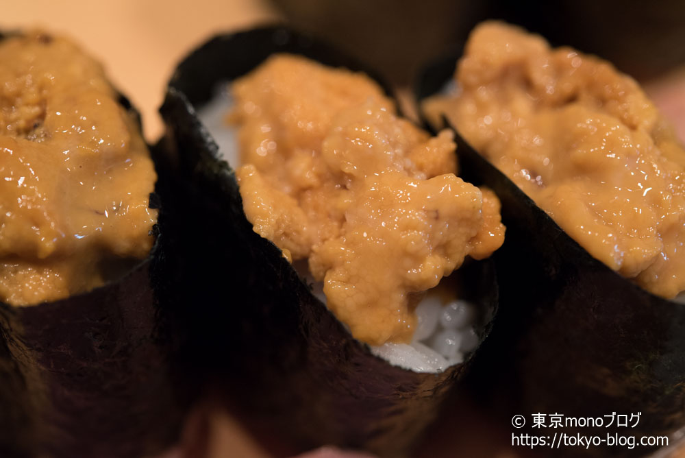 築地玉寿司の「うに」
