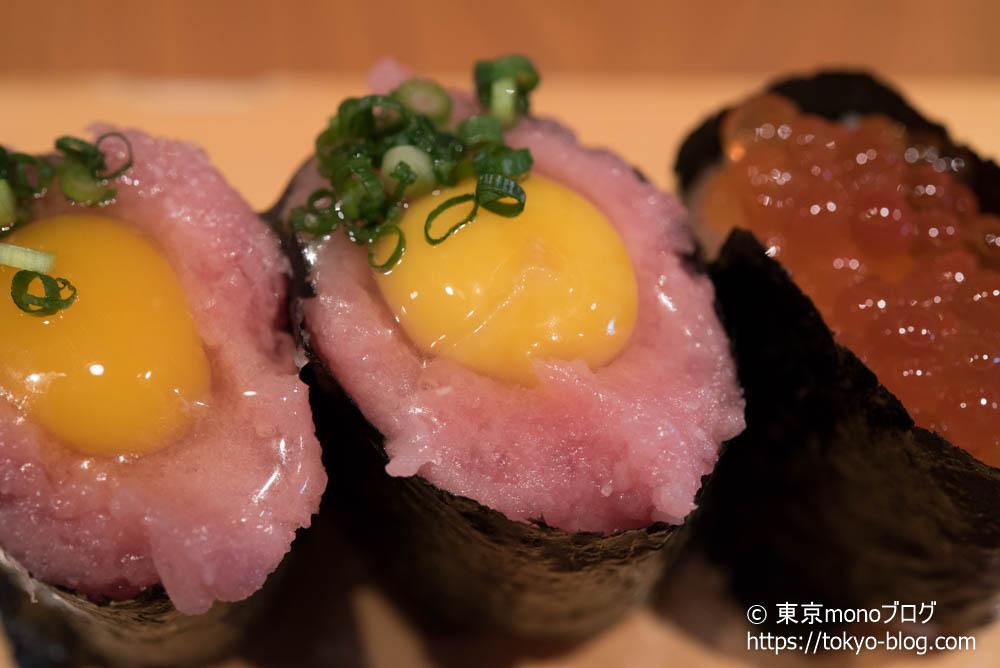 築地玉寿司の「トロうずら」