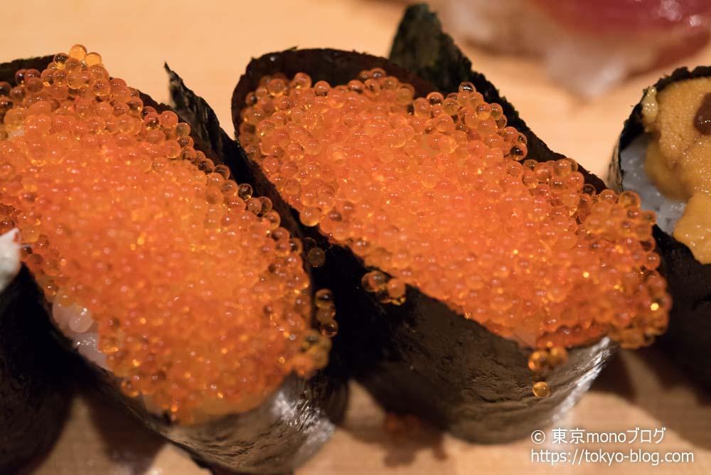築地玉寿司の「とびっこ」