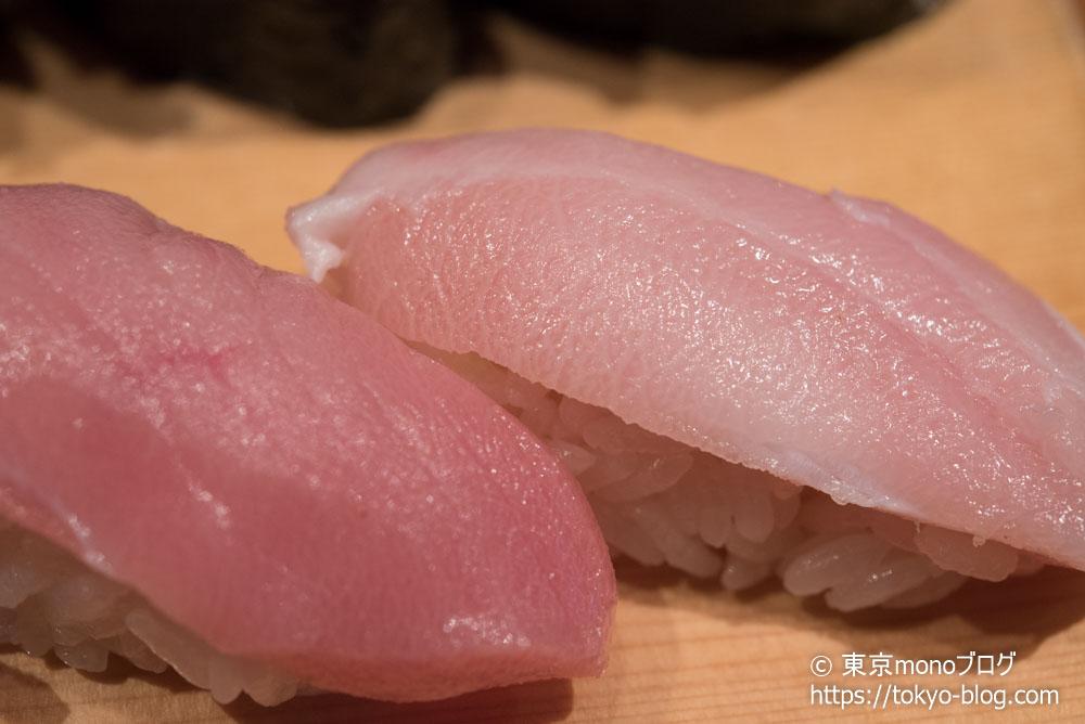 築地玉寿司の「中とろ」