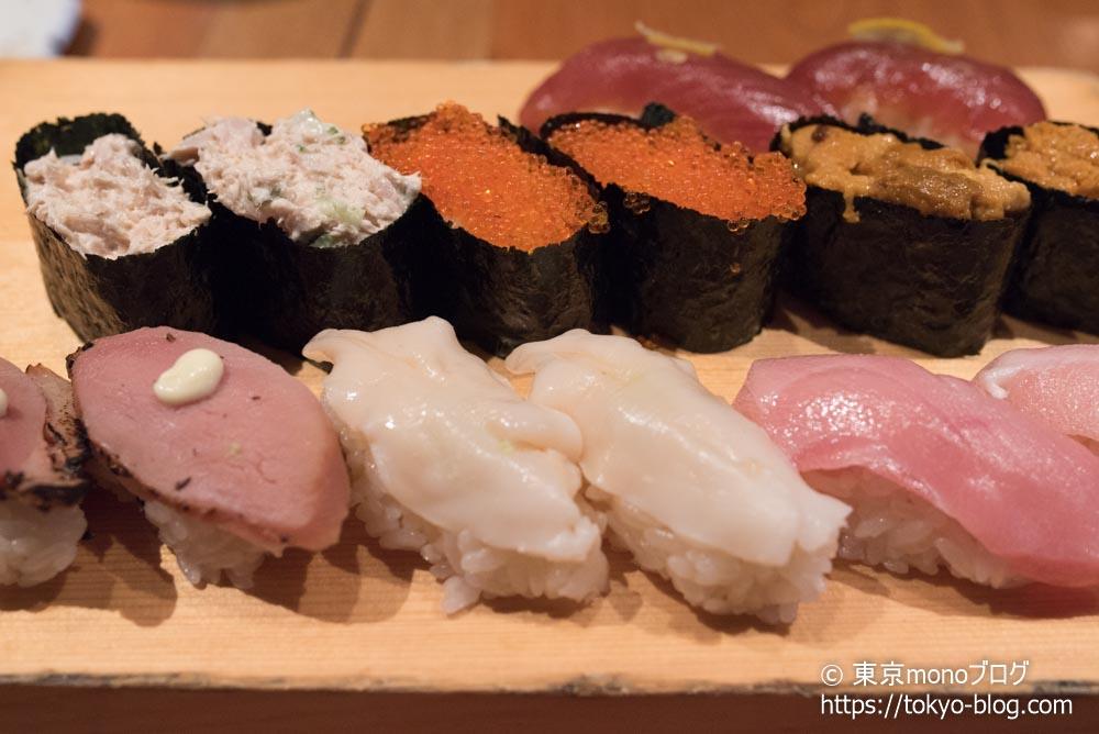 高級寿司食べ放題2巡目