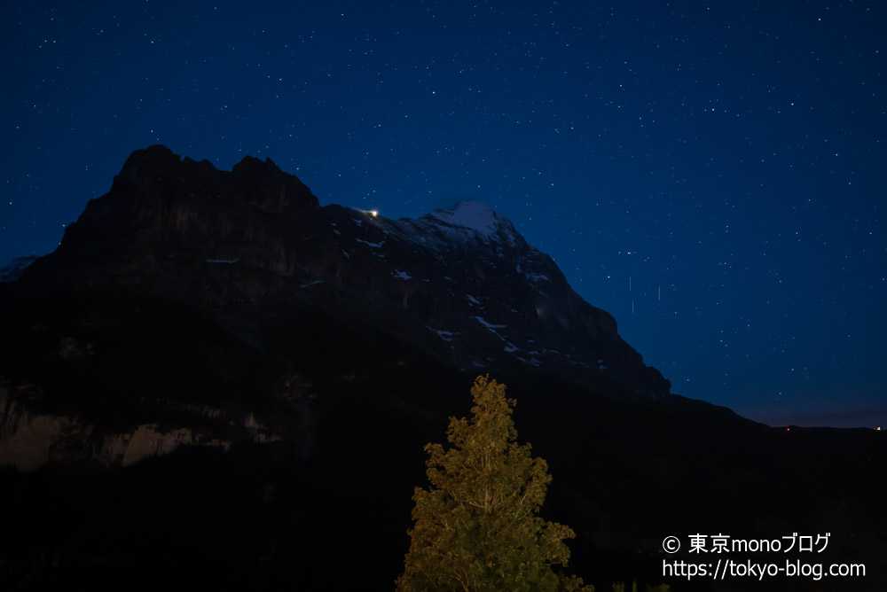 夜は部屋から星も見えました。